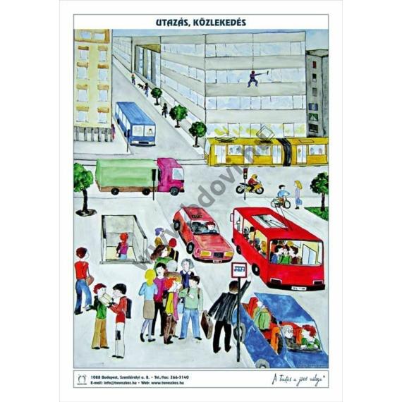 Utazás, közlekedés 1 db 60 x 85 cm