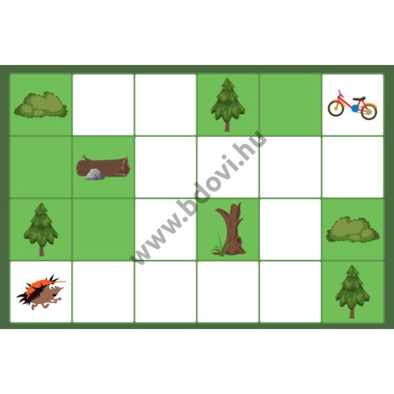 Bee-Bot gyakorlópálya - Erdős pálya