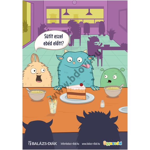 Ebédlő plakát szörnyecskék tabló