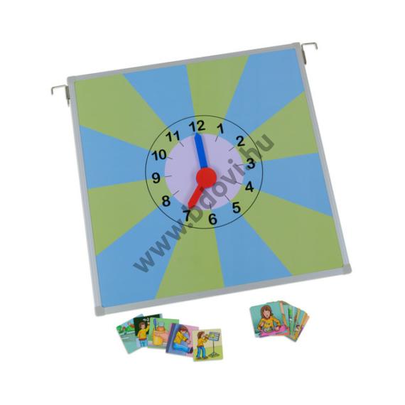 Egy napom mágneses óra - képkártyákkal
