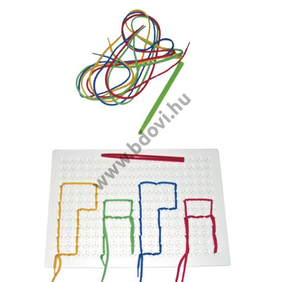 Fűzős játéktábla - téglalap alakú