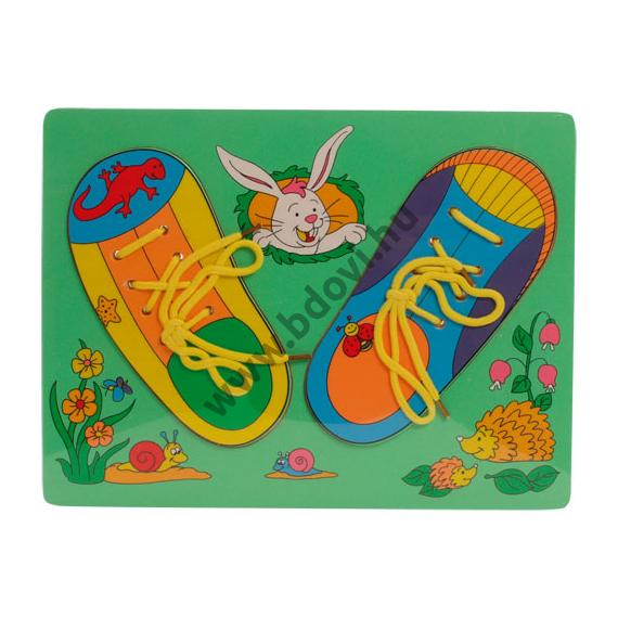 Fűzős cipő-puzzle