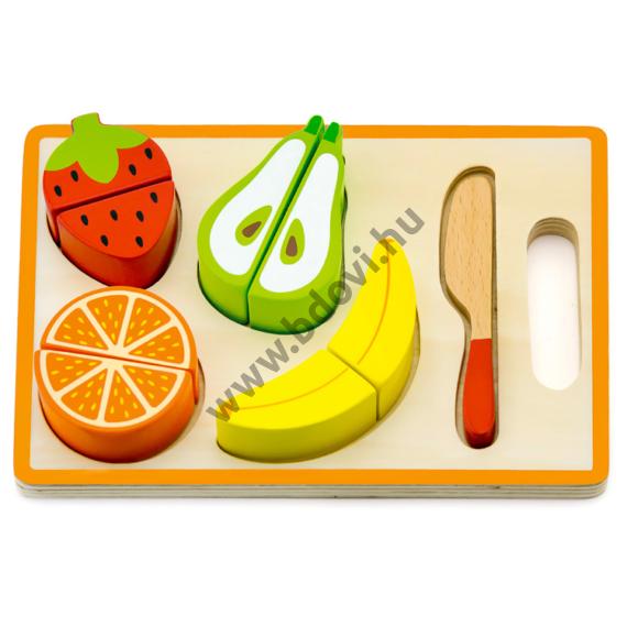 Szeletelhető gyümölcs játékkészlet tálcán