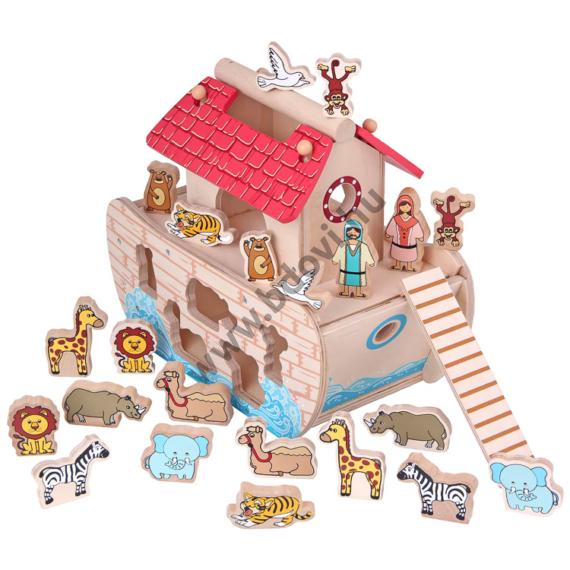 Noé bárkája formabedobó játék