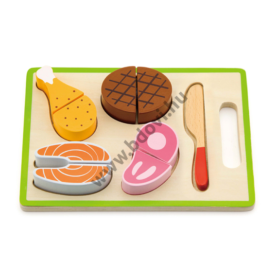 Szeletelhető húsok játékkészlet tálcán