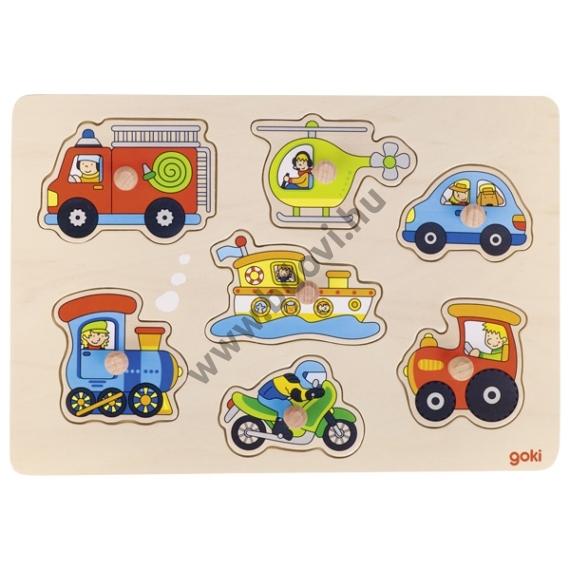 Fogantyús puzzle - GOKI járművek