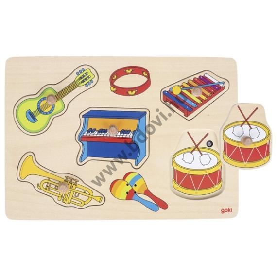 Fogantyús hangot adó puzzle - hangszerek