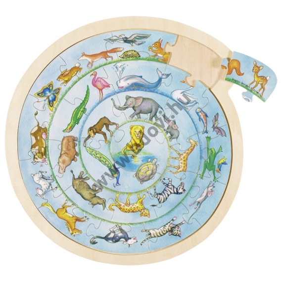 Puzzle - állatok - GOKI