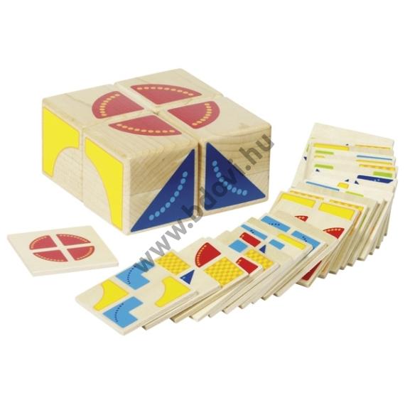 Kocka kirakó feladatkártyákkal, Kubus - GOKI
