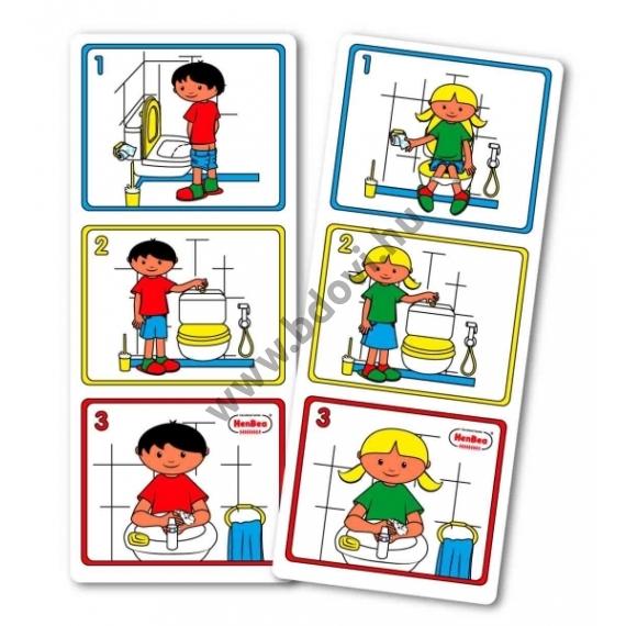 Hogyan használjuk a WC-t? (lány) - képkártya