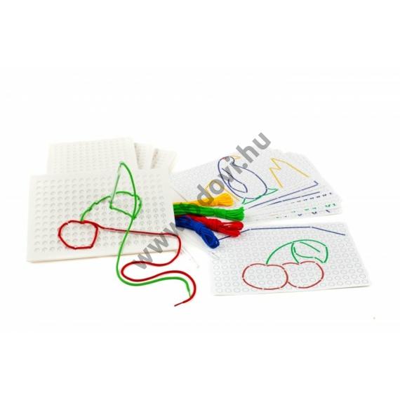 Fűzhető játéktábla készlet - 4 darabos