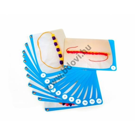 12 db-os feladatkártya gyöngyfűző készlethez