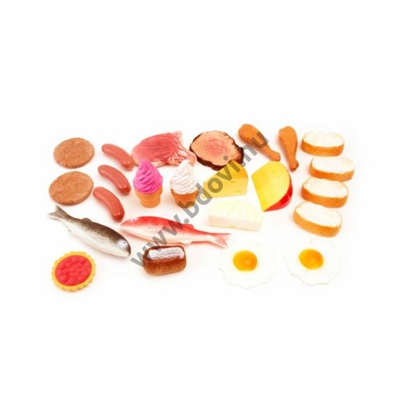Műanyag élelmiszer készlet II, 24 db