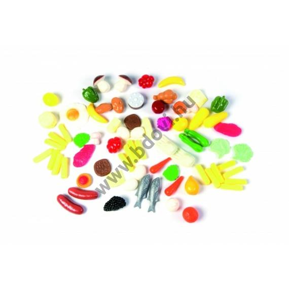 Műanyag élelmiszer készlet - 72 db