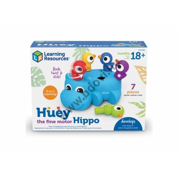 Huey, a finommotorika fejlesztő víziló