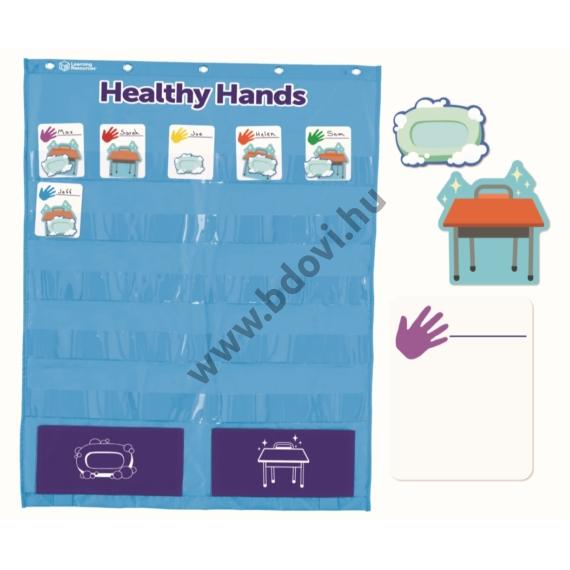 Osztálytermi higiénia fali kártyatartó