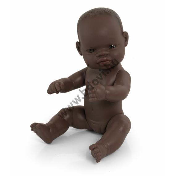 Baba, 32 cm, ruha nélkül, afrikai lány