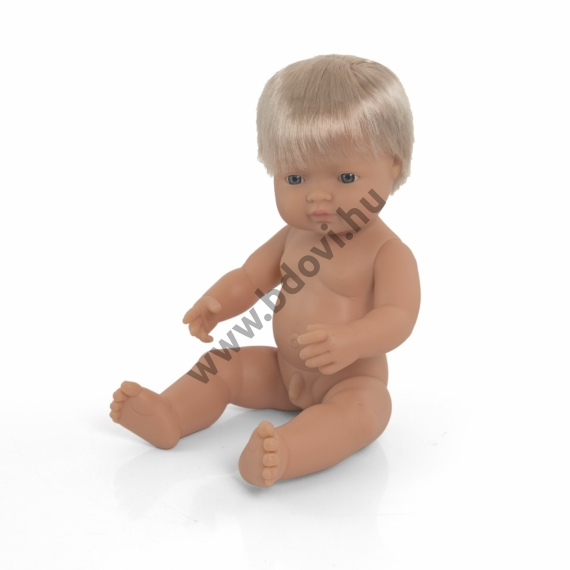 Hajas baba, 38 cm, ruha nélkül, európai fiú