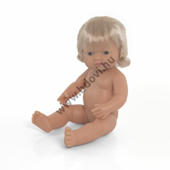 Hajas baba, 38 cm, ruha nélkül, európai lány