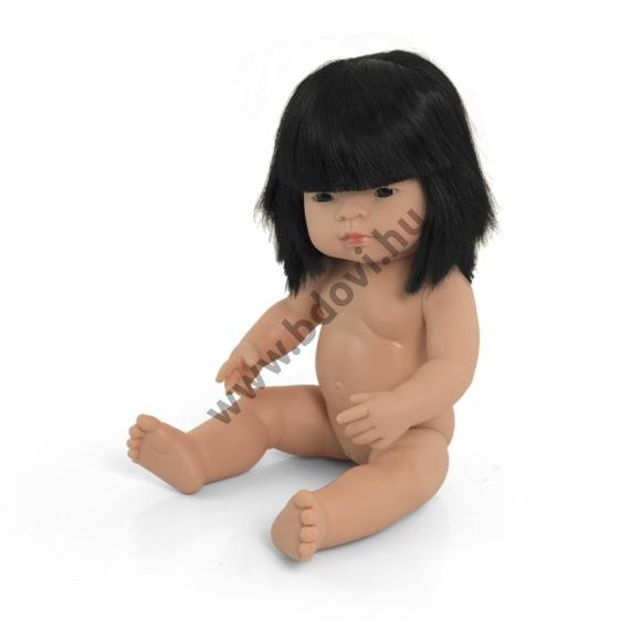 Hajas baba, 38 cm, ruha nélkül, ázsiai lány