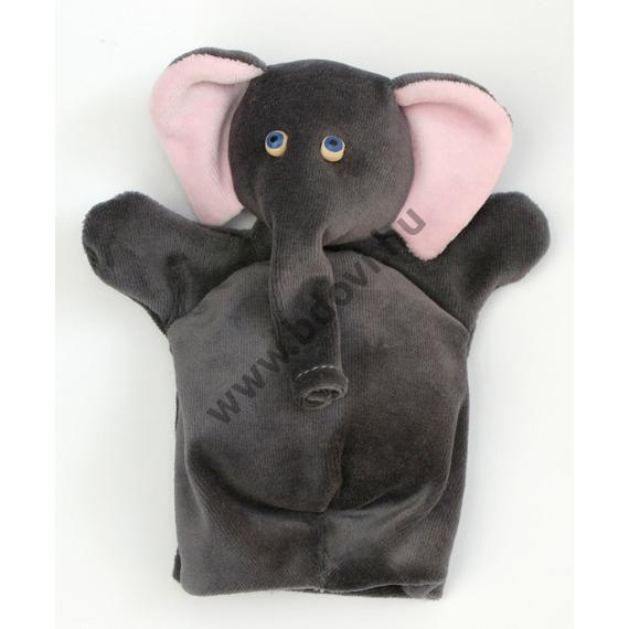 Háromujjas báb: elefánt - gyerek kézre