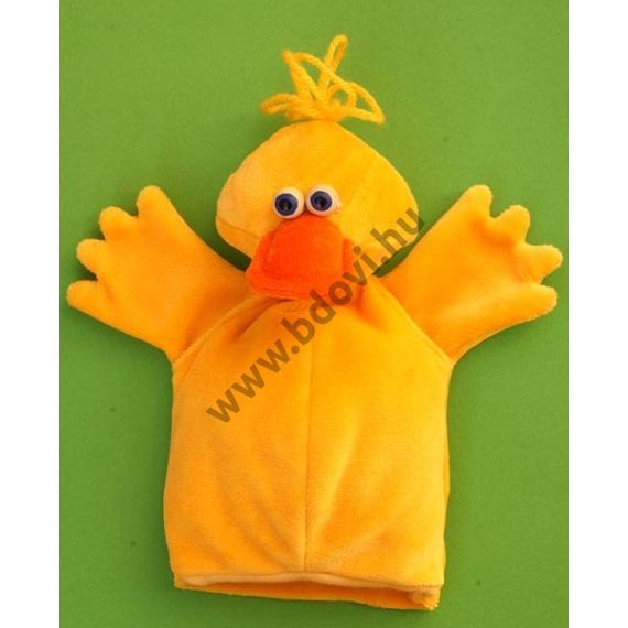Háromujjas báb: kacsa - gyerek kézre