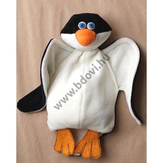 Háromujjas báb: pingvin - gyerek kézre