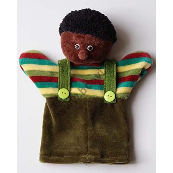 Háromujjas báb: Afrikai fiú - gyerek kézre