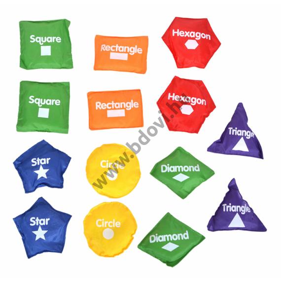 Babzsák készlet geometriai mintákkal