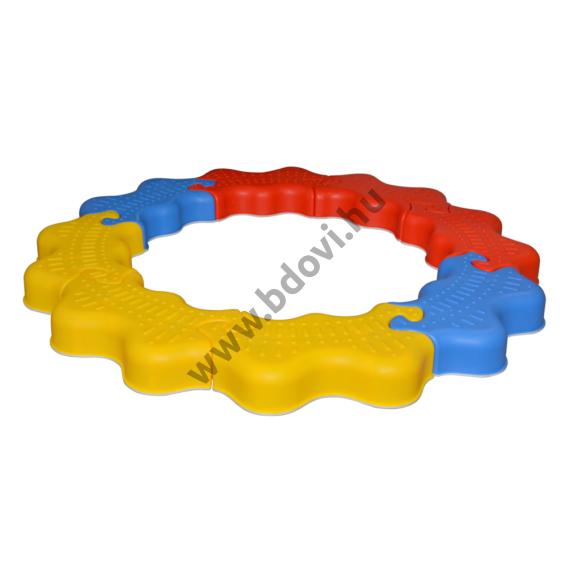 Egyensúlyozó ösvény - műanyag elemekből - 8 darabos