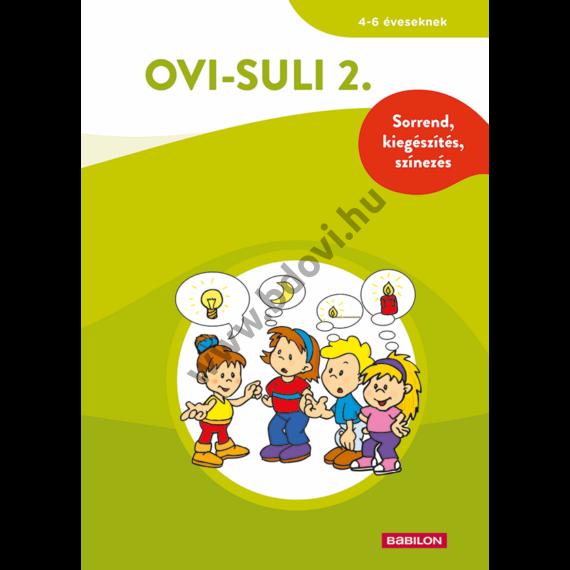 Ovi-suli 2. - Sorrend, kiegészítés, színezés