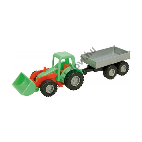 Traktor pótkocsival 26cm