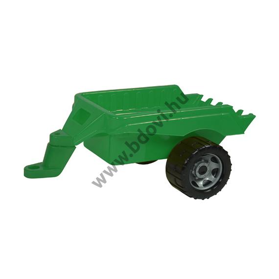 Zöld traktor utánfutó 47 cm