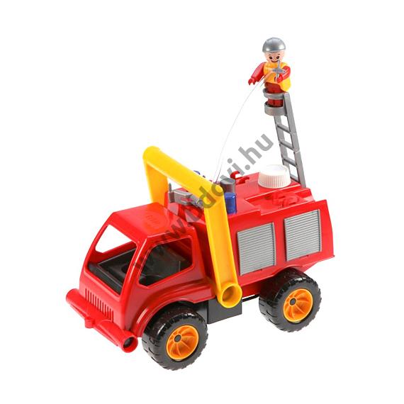 Tűzoltóautó vízpumpával és figurával 31cm