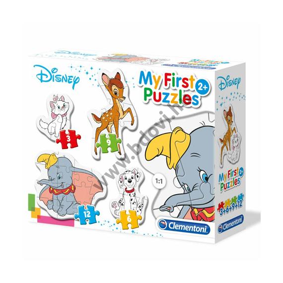 Disney állatok 4 az 1-ben puzzle szett