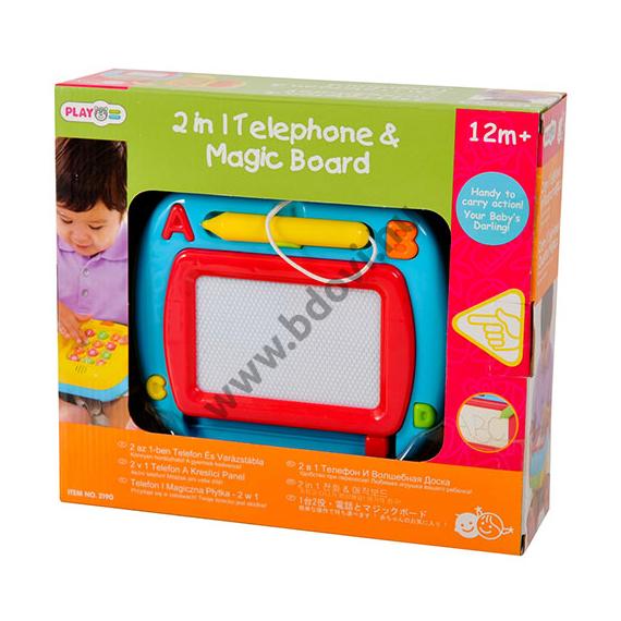 2 az 1-ben bébi telefon és rajztábla