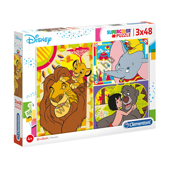 Disney klasszikusok 3 az 1-ben puzzle 3 x 48 db-os