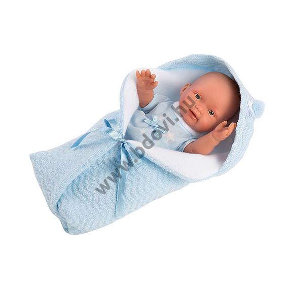 Bebito 26 cm-es fiú baba pólyában