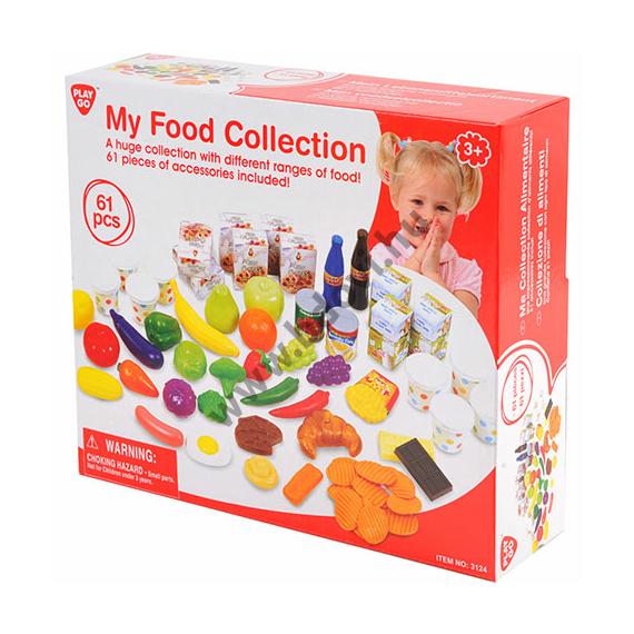 Műanyag játék élelmiszer szett