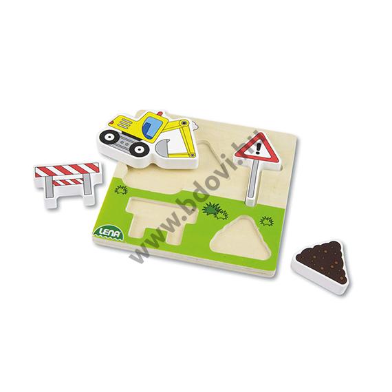 Fa formaillesztő puzzle - útépítés