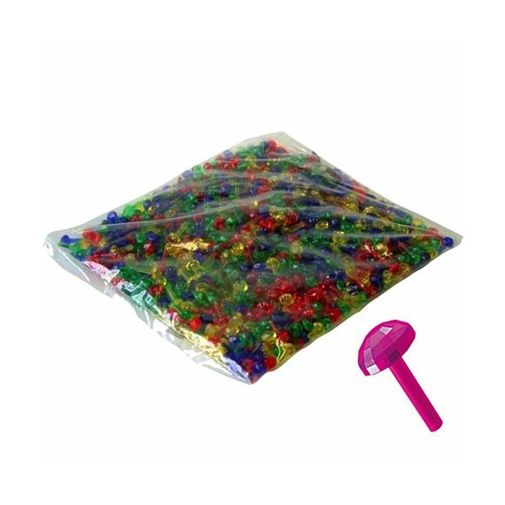 Mozaik színes áttetsző 1 cm-es pötyi szett 100 db-os