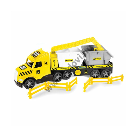 Kamion konténerrel és fénnyel 80 cm