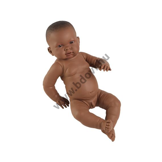 Fiú csecsemő baba néger 45 cm
