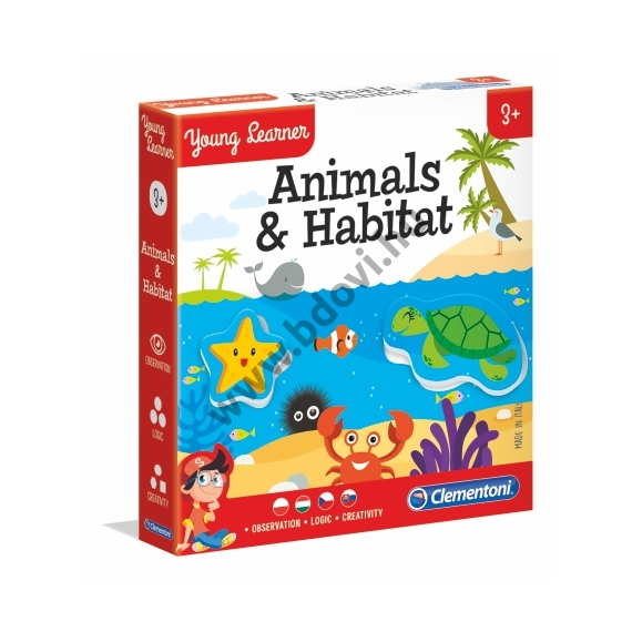Állatok és élőhelyeik oktatójáték
