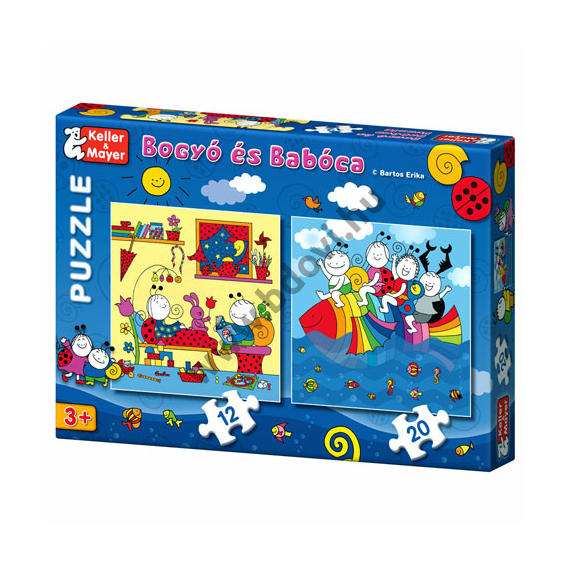 Bogyó és Babóca Szivárványhal 12 és 20 db-os puzzle