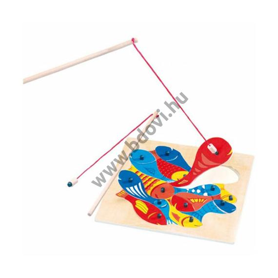 Horgászható mágneses fa formapuzzle