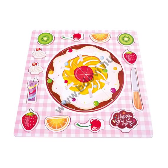 Gyümölcstorta fa forma-puzzle