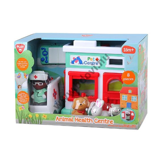 Állatkórház játék készlet figurával
