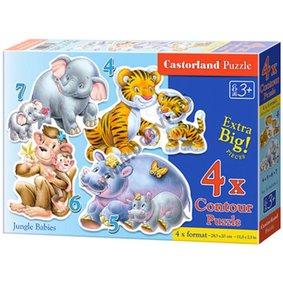 Dzsungel bébik 4 az 1-ben puzzle