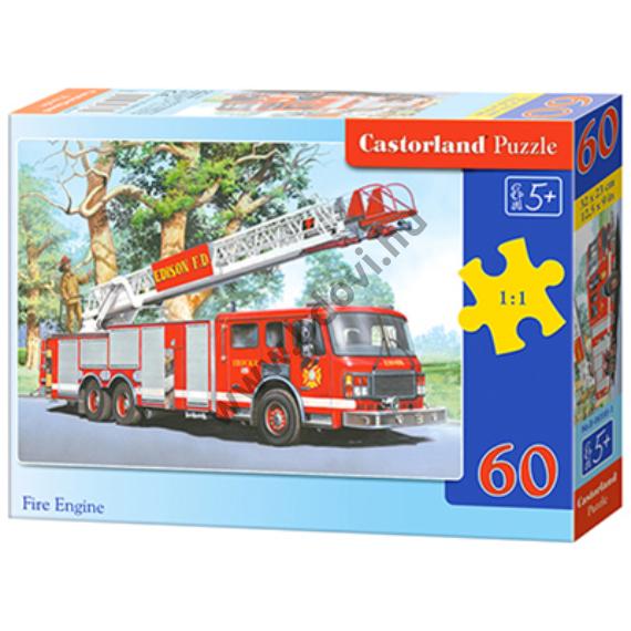 Tűzoltóautó 60db-os puzzle